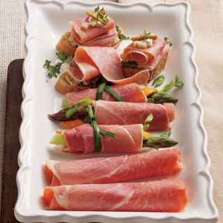 Cooked, Country Ham Slices