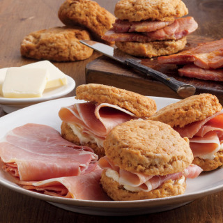 Home » Country Hams » Cooked, Country Ham and Sweet Potato Biscuits
